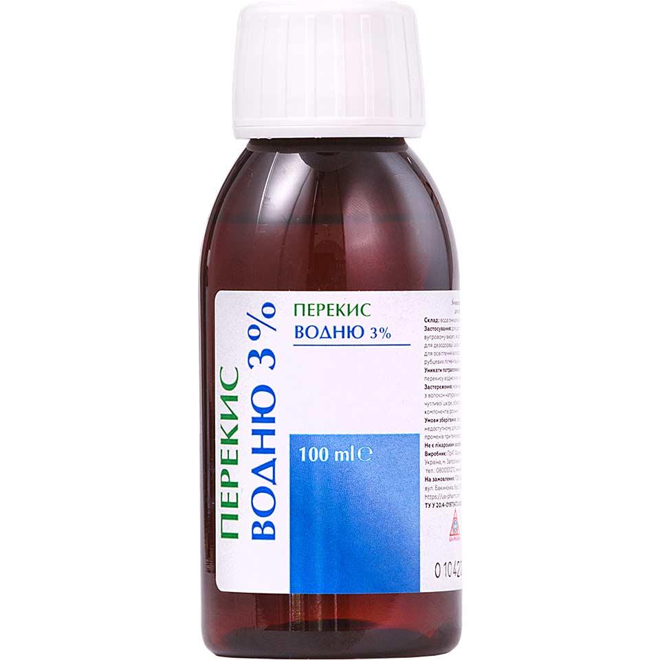 Перекись водорода H2O2 3% кровоостанавливающий дезинфектор
