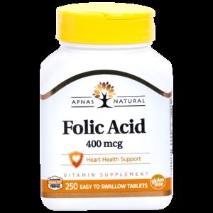 Фолиевая кислота 400 мкг ﹘ для репродуктивного здоровья и предупреждения развития анемии