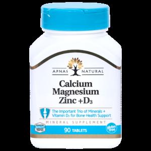 Кальций, Магний, Цинк + D3 ﹘ трио-комплекс минералов, дополненный витамином Д для укрепления костей и мышц