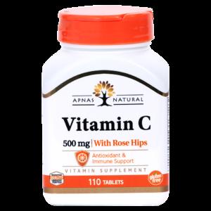 Витамин С 500 мг с шиповником ﹘ дневная порция в 1 таблетке