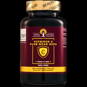 Витамин С плюс шиповник﹘вкусное и полезное сочетание для обеспечения суточной потребности в витамине С